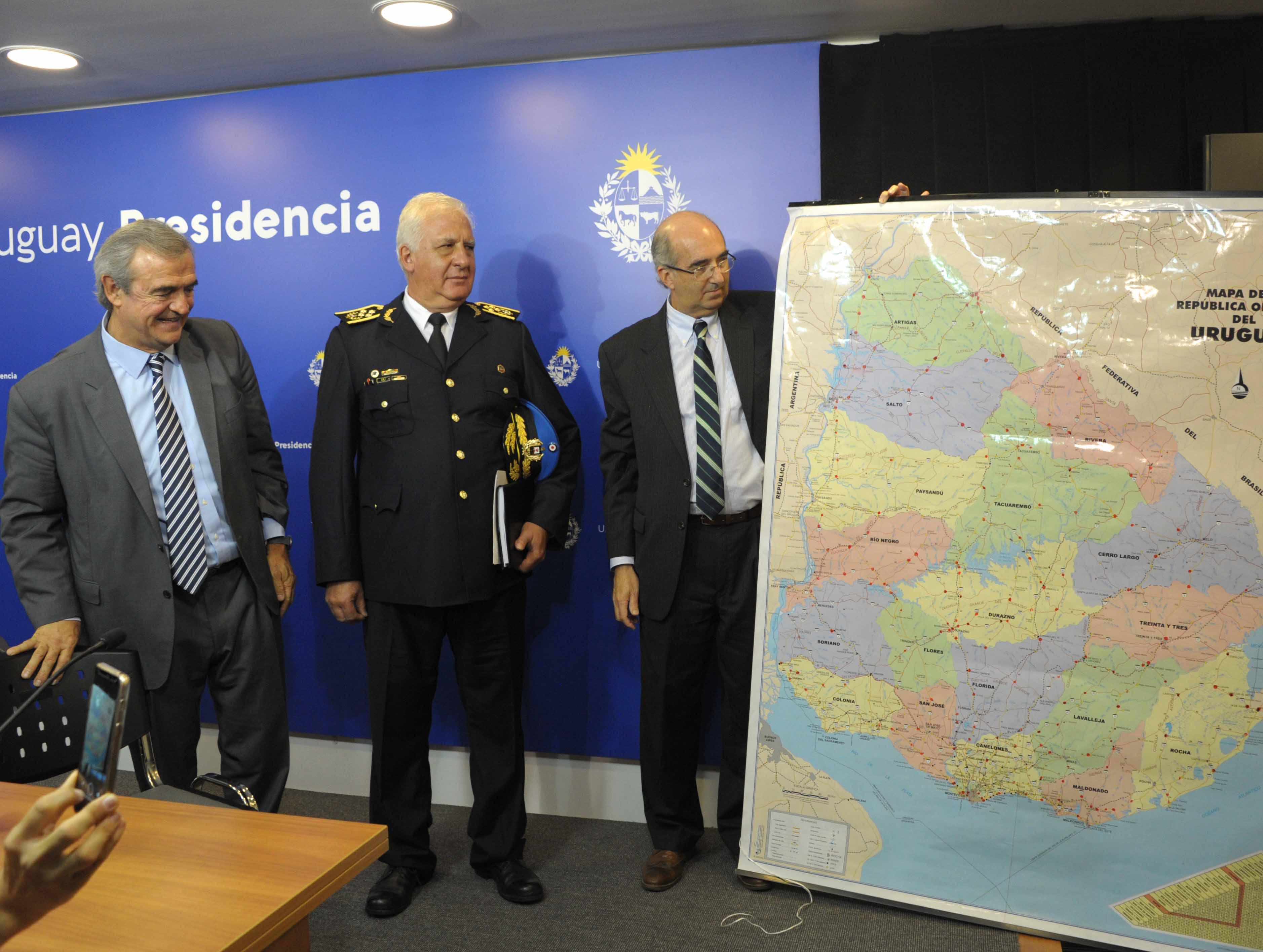 Autoridades indican puntos de control policial que se instalarán en todo el territorio nacional