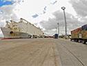 Embarque de ganado en el muelle D del puerto de Montevideo