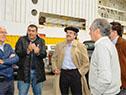 Ministro de Ganadería, Carlos María Uriarte, junto a autoridades del ministerio y del puerto