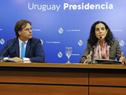 Presidente Luis Lacalle Pou, ministra de Economía y Finanzas, Azucena Arbeleche