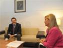 Vicepresidenta, Beatriz Argimón, y prosecretario, Rodrigo Ferrés, mantuvieron una reunión en Torre Ejecutiva