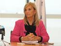 Vicepresidenta Beatriz Argimón durante la conferencia de prensa en Torre Ejecutiva