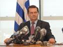 Prosecretario de Presidencia, Rodrigo Ferrés durante la conferencia de prensa en Torre Ejecutiva