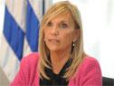 Vicepresidenta de la República, Beatriz Argimón, durante la conferencia de prensa en Torre Ejecutiva
