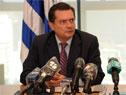 Prosecretario de Presidencia, Rodrigo Ferrés, durante la conferencia de prensa en Torre Ejecutiva