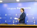 Presidente de la República, Luis Lacalle Pou, previo al inicio de la conferencia de prensa