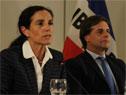 Ministra de Economía y Finanzas, Azucena Arbeleche, haciendo uso de la palabra