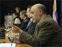 Ministro de Trabajo y Seguridad Social, Pablo Mieres, haciendo uso de la palabra