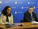 Ministra de Economía y Finanzas, Azucena Arbeleche, y secretario de Presidencia de la República, Álvaro Delgado