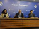 Ministra de Economía, Azucena Arbeleche, secretario y prosecretario de Presidencia, Álvaro Delgado y Rodrigo Ferrés, ministro de Trabajo, Pablo Mieres