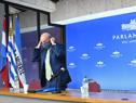 Ministro de Defensa Nacional, Javier García, encabezó conferencia de prensa