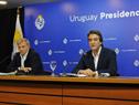 Autoridades de Secretaría Nacional del Deporte, Sebastián Bauzá y Pablo Ferrari, en conferencia de prensa