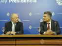 Ministro de Educación y Cultura, Pablo da Silveira, e Isaac Alfie, director de OPP