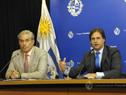 Robert Silva, presidente del Codicen de la ANEP, y presidente de la República, Luis Lacalle Pou