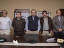 Autoridades al finalizar la videoconferencia de prensa desde la planta de Alcoholes del Uruguay (ALUR)