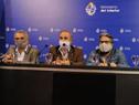 Conferencia de prensa de autoridades tras reunión con sindicatos de la salud