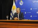 Ministro de Ganadería, Carlos María Uriarte, en conferencia de prensa