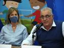 Eduardo Mosegui, presidente de ONFI, haciendo uso de la palabra