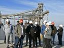 Ministro de Transporte y Obras Públicas, Luis Alberto Heber, encabezó recorrida por puerto de Nueva Palmira