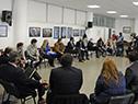 Autoridades, trabajadores y empresarios en el Ministerio de Trabajo y Seguridad Social