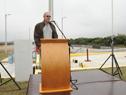 Presidente de OSE, Raúl Montero, haciendo uso de la palabra