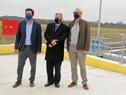 Autoridades al finalizar inauguración de planta de tratamiento de líquidos barométricos en Colonia