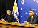 Director de la Secretaría Nacional del Deporte, Sebastián Bauzá, en conferencia de prensa