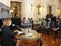 """Presidente Lacalle Pou presencia el lanzamiento de nueva edición de """"El diario de Ana Frank"""""""