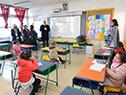 Robert Silva, en segunda fase de reinicio de clases presenciales, en escuela del programa Aprender n.° 123