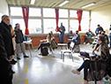 Robert Silva, en segunda fase de reinicio de clases presenciales, en liceo n.° 63