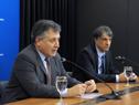 Ministro de Industria, Energía y Minería, Omar Paganini, y Nicolás Jodal, representante de desarrolladores de Coronavirus.uy