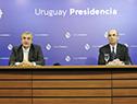 Ministro del Interior, Jorge Larrañaga, y subsecretario, Guillermo Maciel