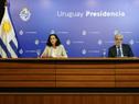 Ministra de Economía y Finanzas, Azucena Arbeleche, y subsecretario, Alejandro Irastorza