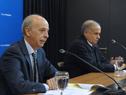 Ministro de Defensa, Javier García, y subsecretario, Rivera Elgue