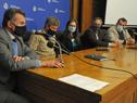 Titular del Ministerio de Salud Pública, Daniel Salinas, haciendo uso de la palabra