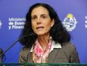 Ministra de Economía y Finanzas, Azucena Arbeleche, encabezó conferencia de prensa