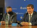 Presidente de ASSE, Leonardo Cipriani, dirigiéndose a los presentes