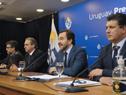 Ministro de Turismo, Germán Cardoso, haciendo uso de la palabra