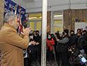 Presidente del Codicen, Robert Silva, y autoridades de ANEP visitaron el liceo n.° 21, Abrazo del Monzón
