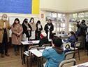 Presidente del Codicen, Robert Silva, y autoridades de ANEP visitaron la escuela n.° 219, Olympia Fernández, del barrio Malvín
