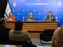 Ministra de Vivienda, Irene Moreira, titular de Turismo, Germán Cardoso, y de Industria, Energía y Minería, Omar Paganini