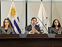 Carolina Ache, Luis Lacalle Pou y Azucena Arbeleche