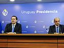Prosecretario de Presidencia, Rodrigo Ferrés, junto al presidente de la Junta Nacional de Drogas, Daniel Radío