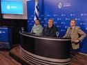 Conferencia de prensa brindada por Santiago González, Jorge Larrañaga y Sebastián Bauzá
