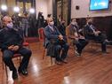 Asistentes a la conferencia de prensa