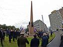 Presidente Lacalle Pou colocó ofrenda floral al pie del Obelisco a los Constituyentes de 1830