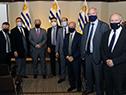 Ministro de Relaciones Exteriores, Francisco Bustillo, junto a integrantes del Gobierno