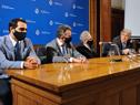Conferencia de prensa de autoridades de los ministerios de Salud Pública y Relaciones Exteriores