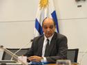 Daniel Radío, haciendo uso de la palabra en asunción de nuevas autoridades del Instituto de Regulación y Control de Cannabis (IRCCA)