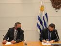 Secretario de Presidencia, Álvaro Delgado, y prosecretario, Rodrigo Ferrés, en asunción de autoridades del IRCCA